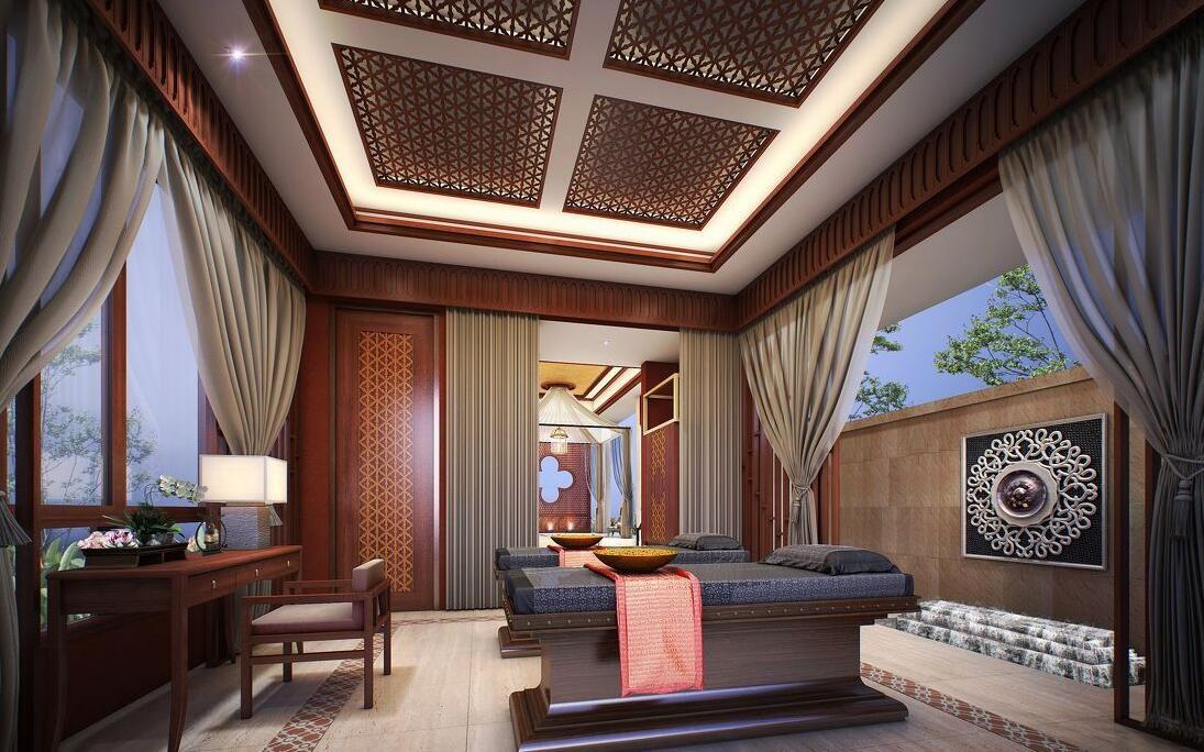 2020东南亚书房装修设计 2020东南亚书架装修图