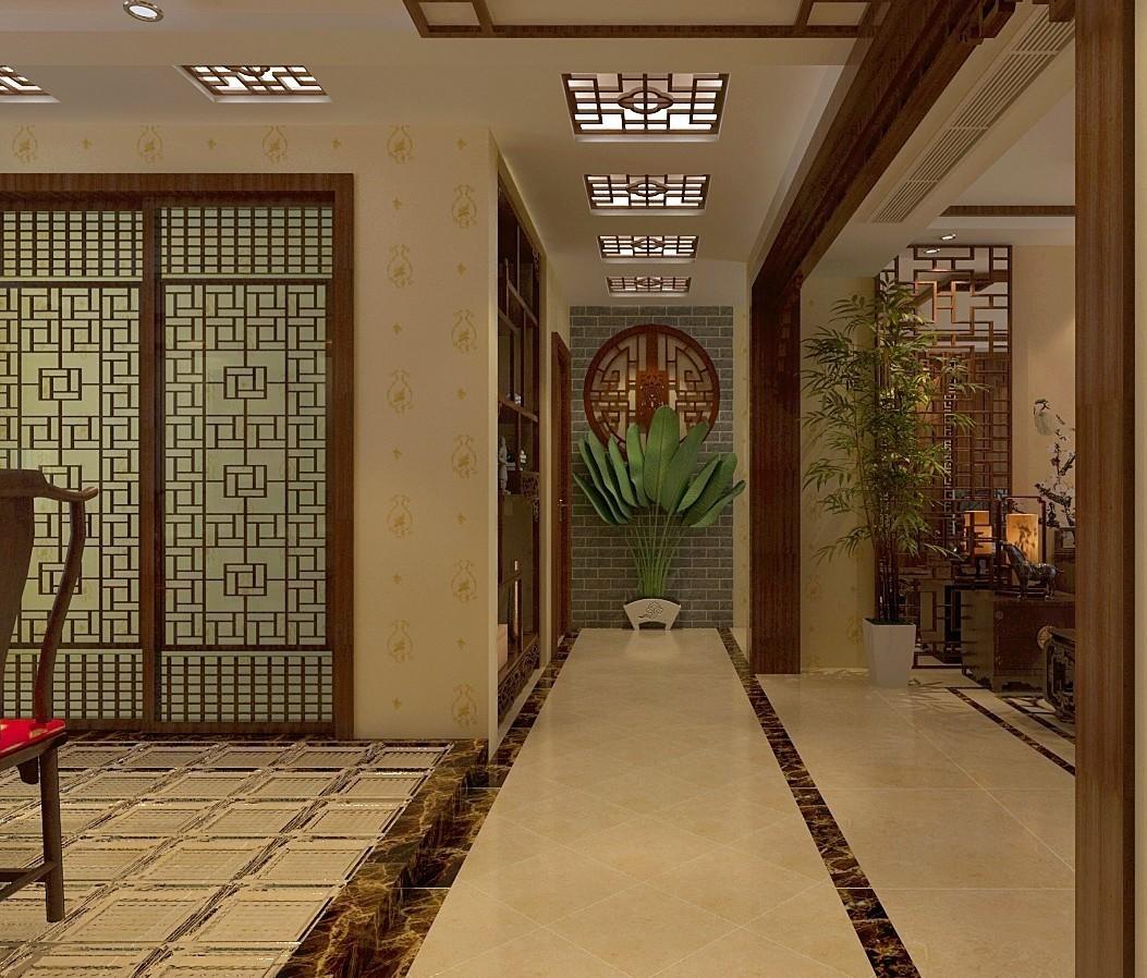 2019中式客厅装修设计 2019中式走廊装修效果图大全