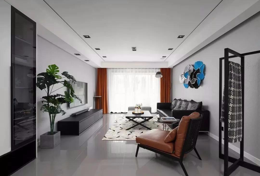 中正親賢門144平現代簡約三房裝飾效果圖