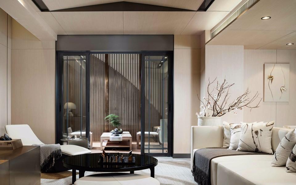 140平方三室二厅新中式风格装修效果图