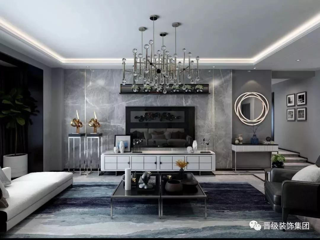 2019后现代150平米效果图 2019后现代四居室装修图