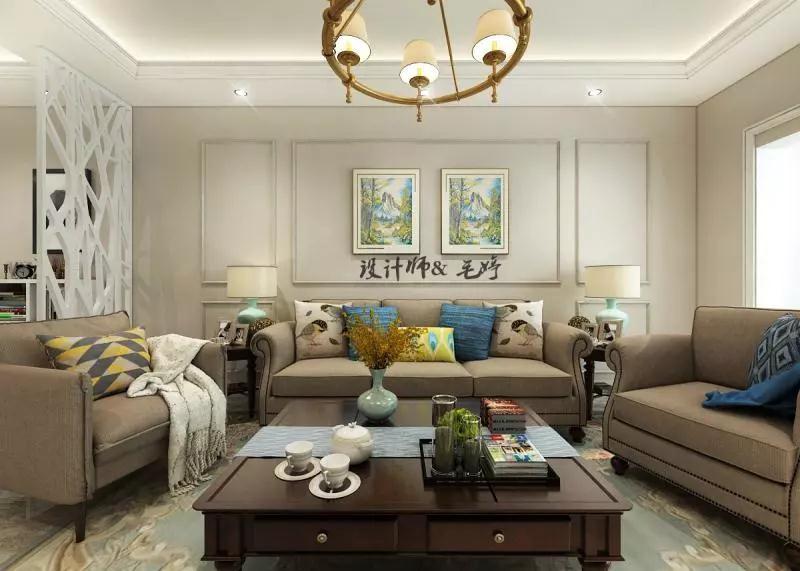 3室1卫1厅117平米欧式风格