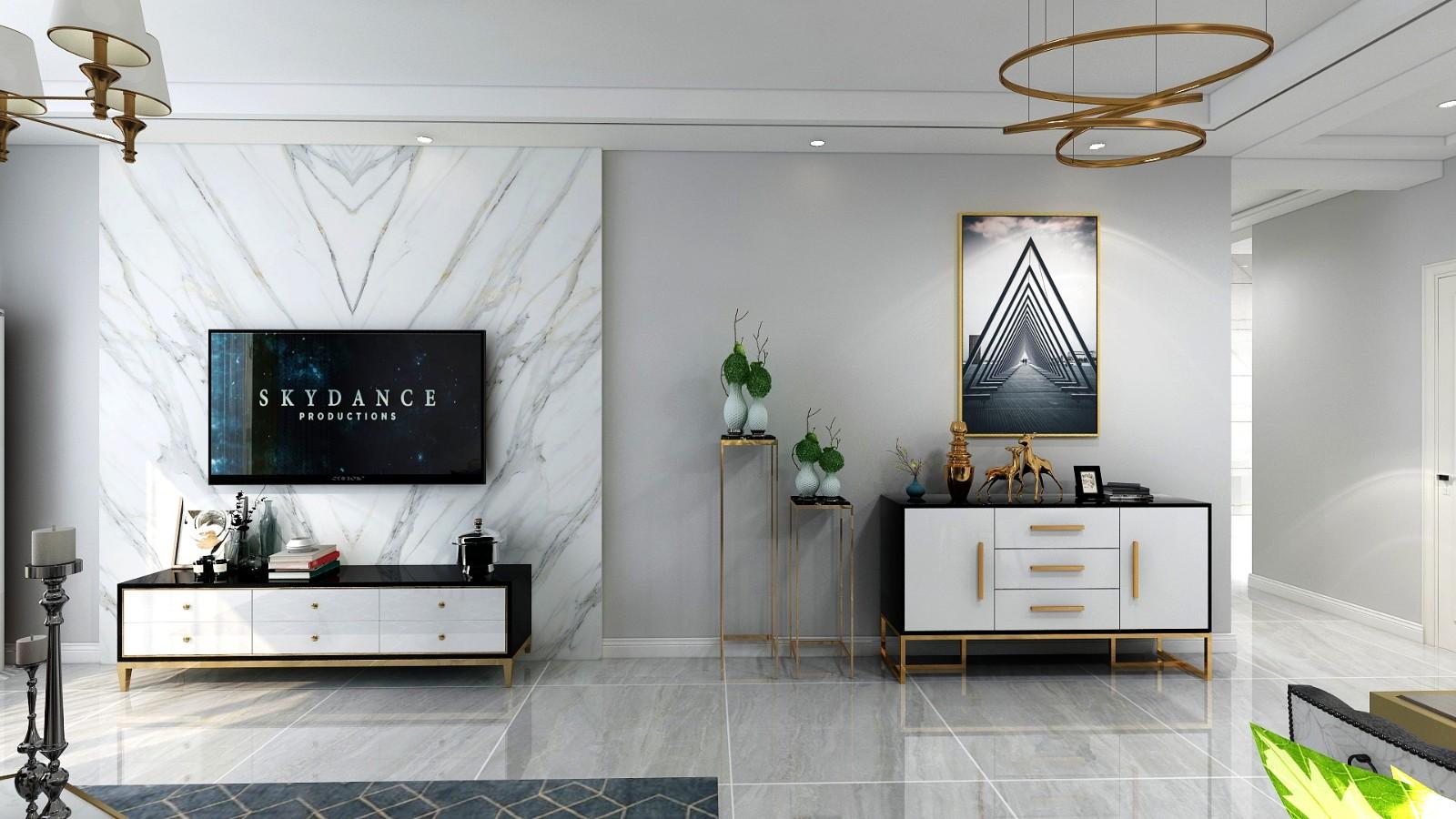 2019现代客厅装修设计 2019现代电视背景墙装修设计图片