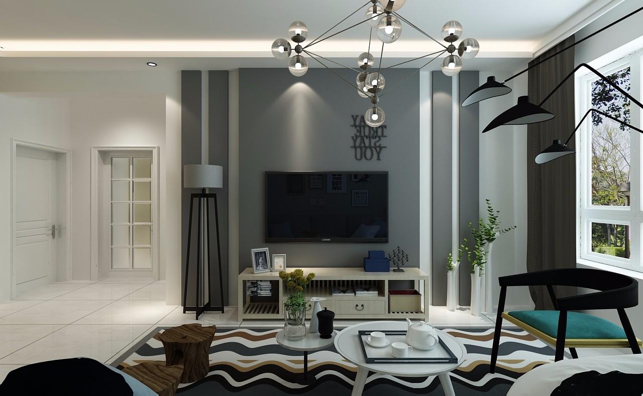 2020后現代90平米裝飾設計 2020后現代樓房圖片