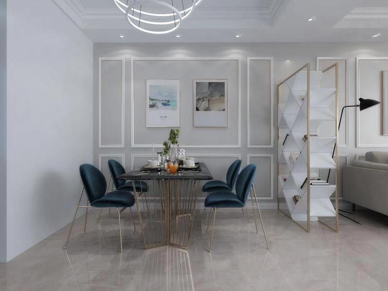 2019现代简约餐厅效果图 2019现代简约地板砖设计图片