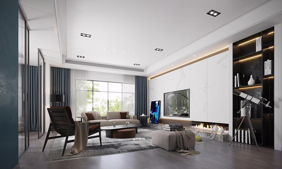 2019現代簡約240平米裝修圖片 2019現代簡約四居室裝修圖