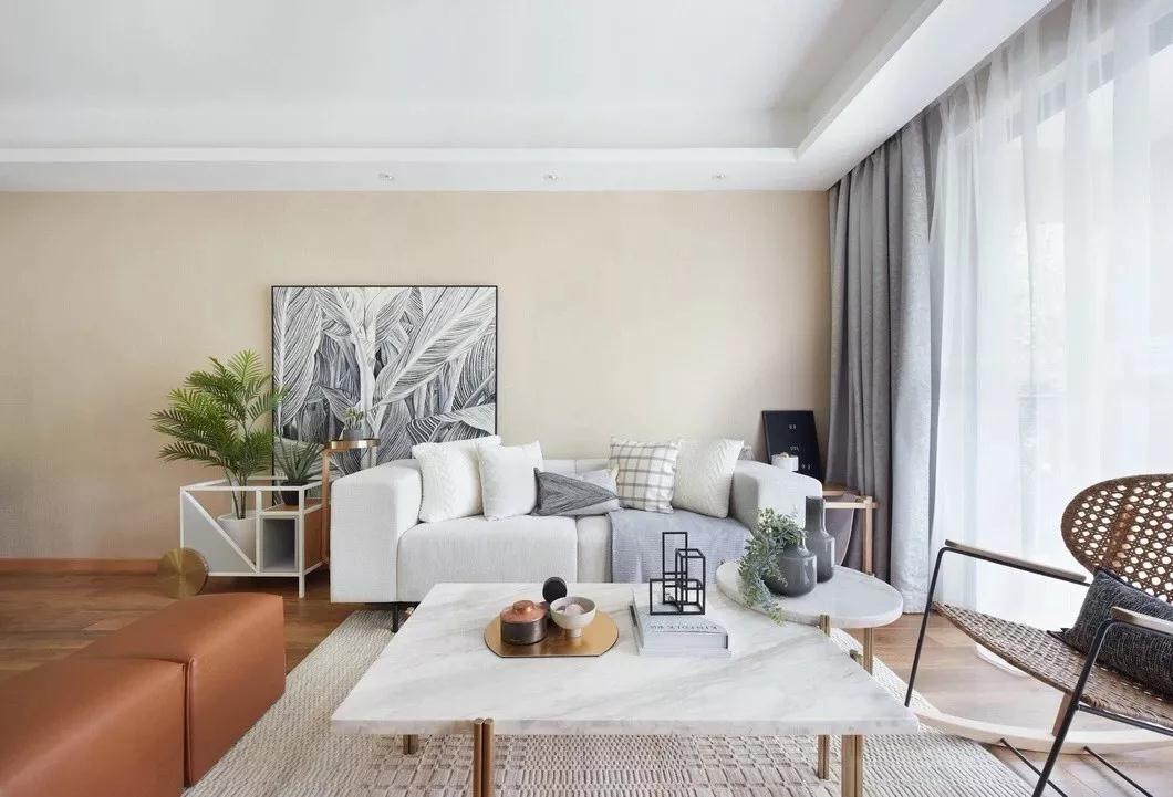 2020日式110平米裝修設計 2020日式三居室裝修設計圖片