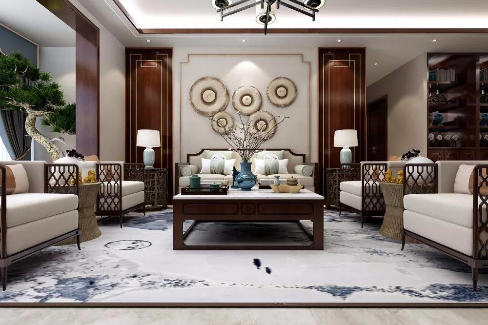 4室2卫1厅135平米新中式风格
