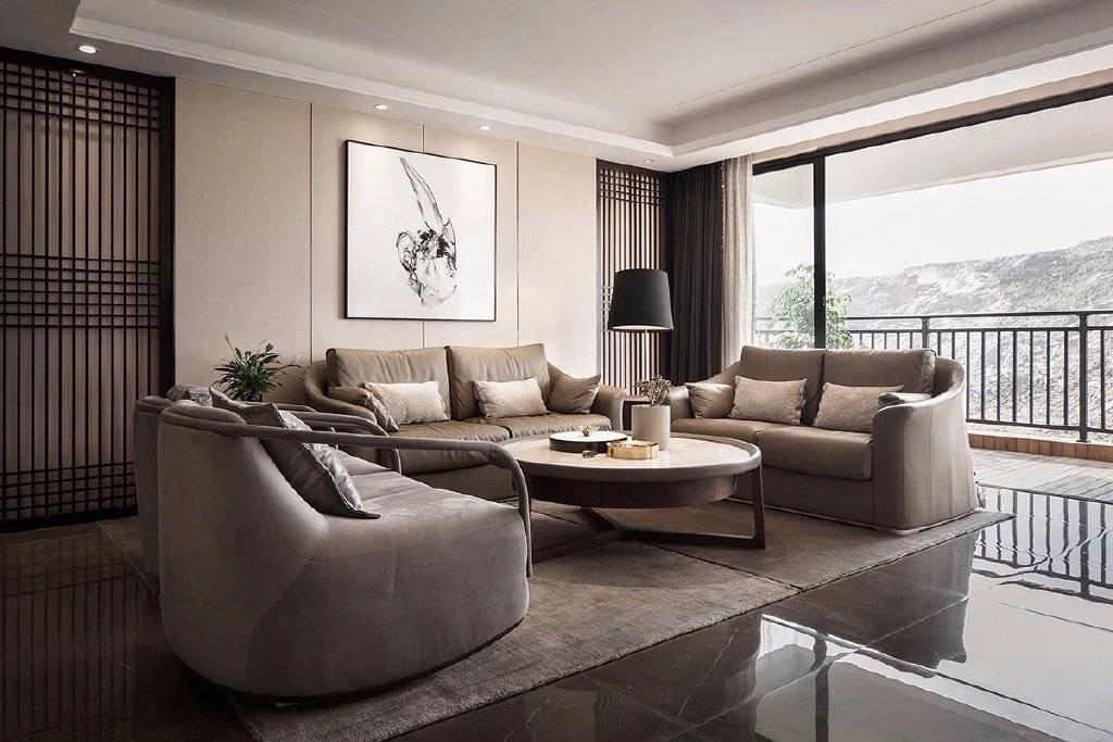 2019现代简约客厅装修设计 2019现代简约窗帘装修效果图片