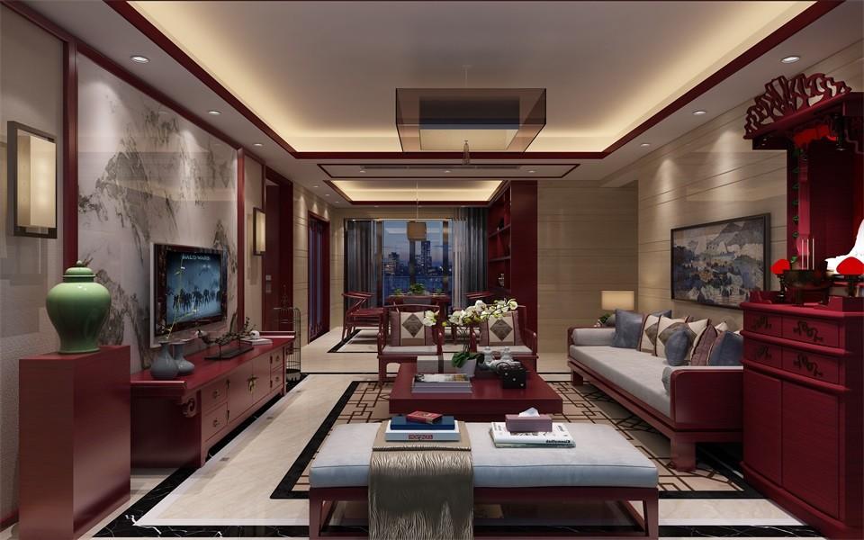 3室2卫2厅130平米中式风格