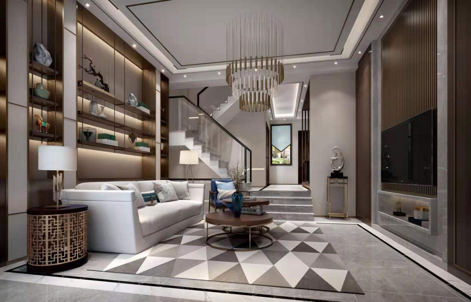 2019新中式150平米效果圖 2019新中式別墅裝飾設計