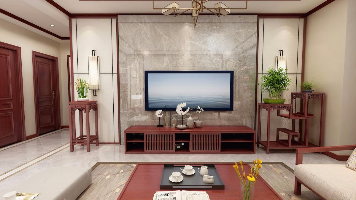 2019新中式150平米效果圖 2019新中式三居室裝修設計圖片