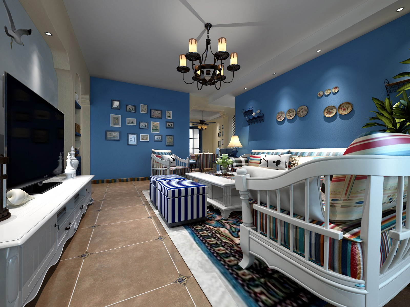 2019地中海客厅装修设计 2019地中海细节装饰设计