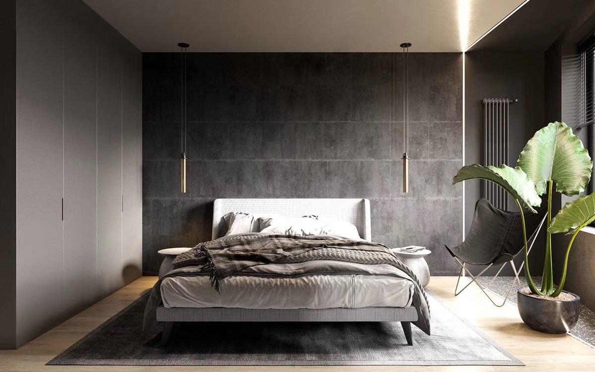 2020工业卧室装修设计图片 2020工业背景墙装修设计