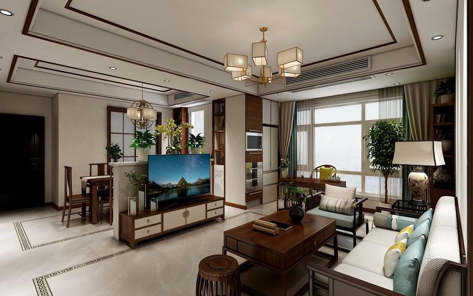 2019新中式150平米效果圖 2019新中式四居室裝修圖