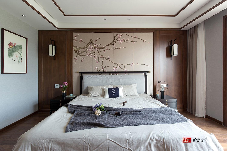 2019中式卧室装修设计图片 2019中式床装修效果图片