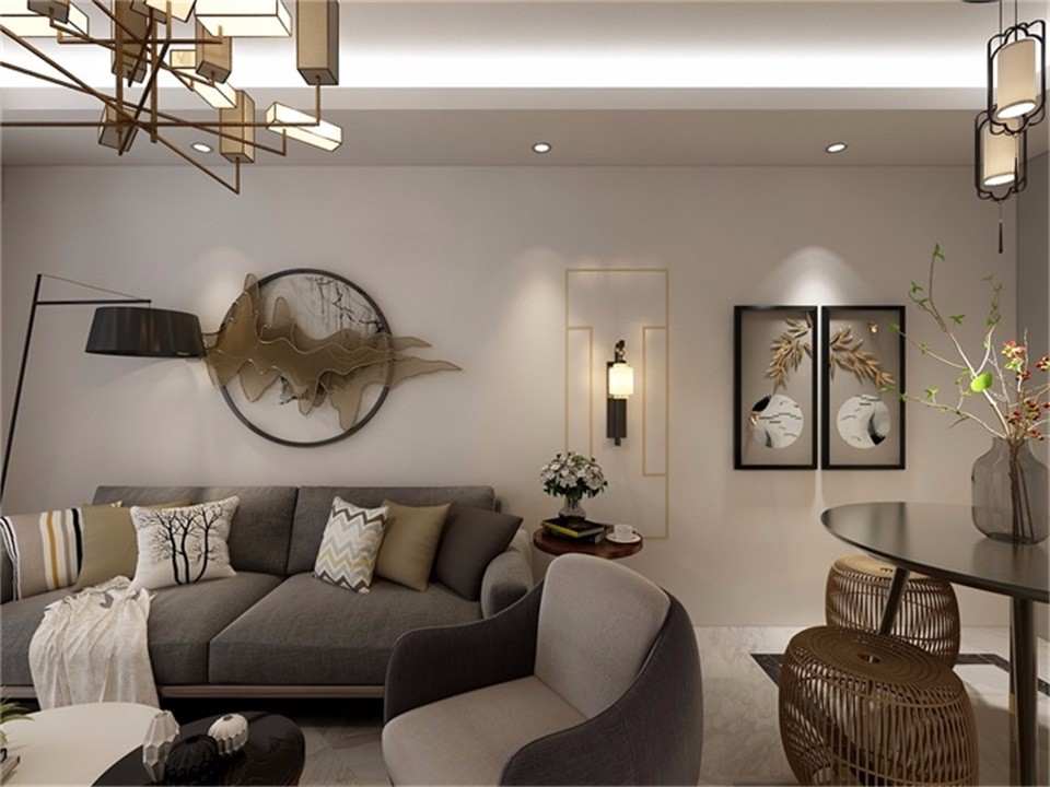 2019新中式70平米設計圖片 2019新中式二居室裝修設計