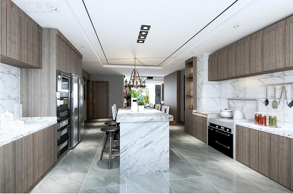 2019现代厨房装修图 2019现代地砖装修设计