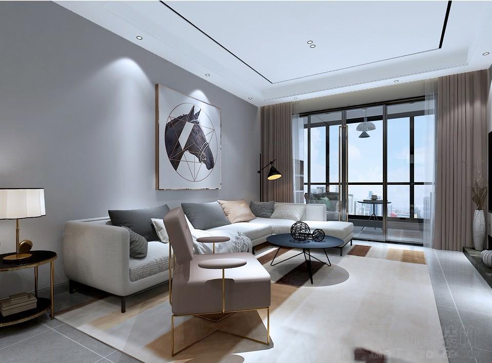 2019现代客厅装修设计 2019现代吊顶设计图片