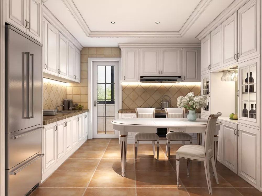 2019欧式厨房装修图 2019欧式橱柜装修效果图片