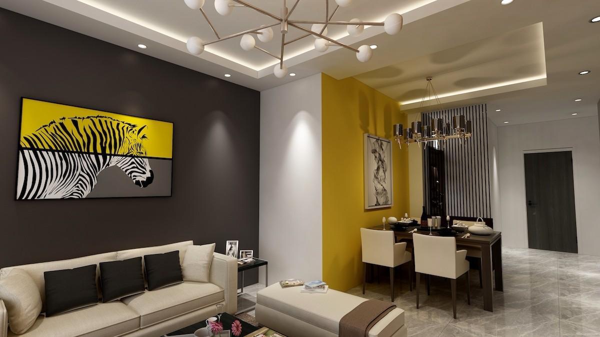 2019现代简约客厅装修设计 2019现代简约照片墙装修效果图大全