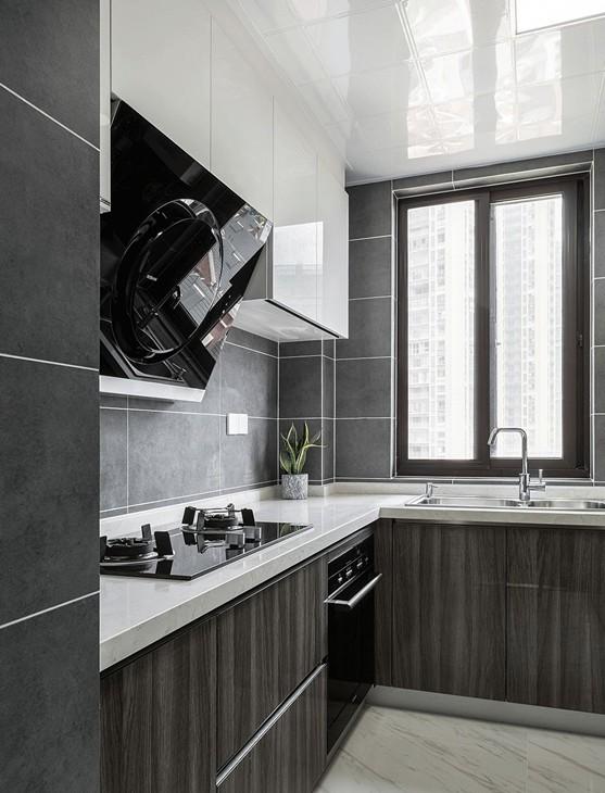 2019现代简约厨房装修图 2019现代简约橱柜装修效果图片