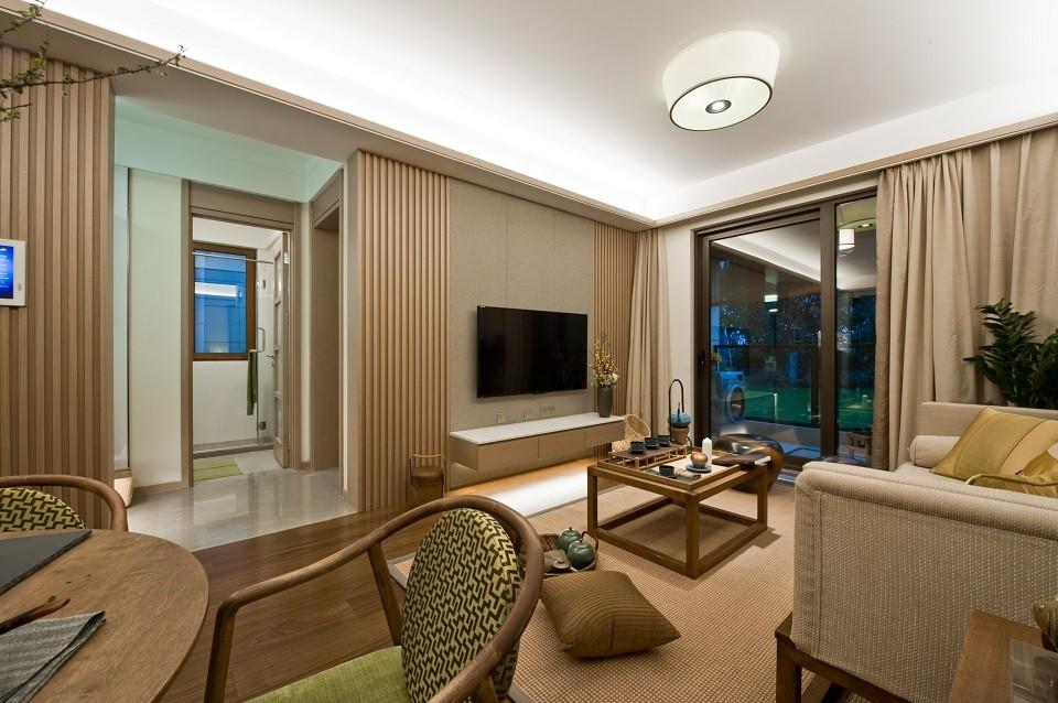 2021现代中式客厅装修设计 2021现代中式吊顶设计图片