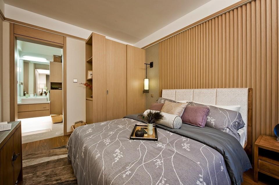2021现代中式卧室装修设计图片 2021现代中式背景墙装饰设计