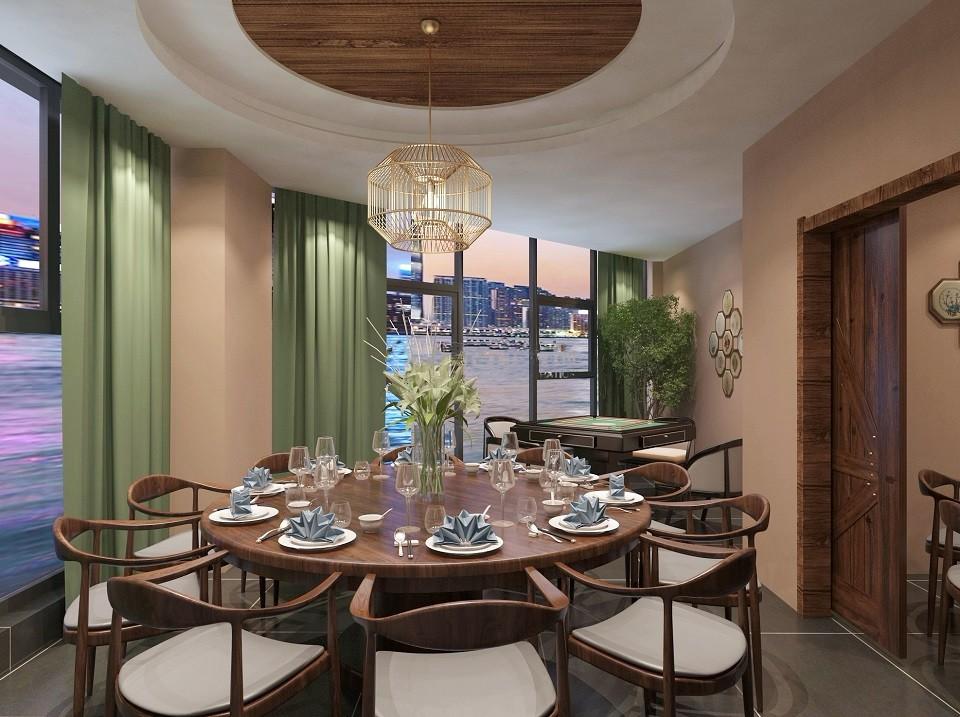 1室1卫1厅300平米现代中式风格
