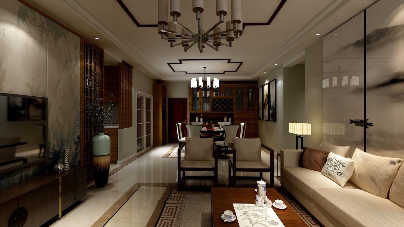 2020新中式客廳裝修設計 2020新中式茶幾效果圖