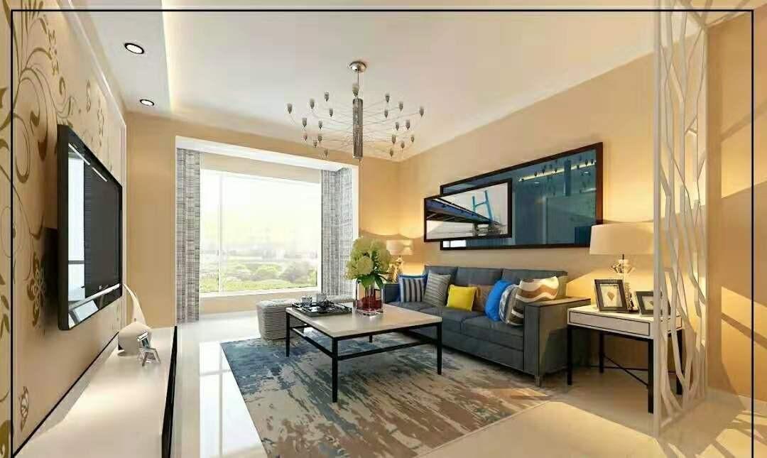 2019现代简约客厅装修设计 2019现代简约地砖装修效果图大全