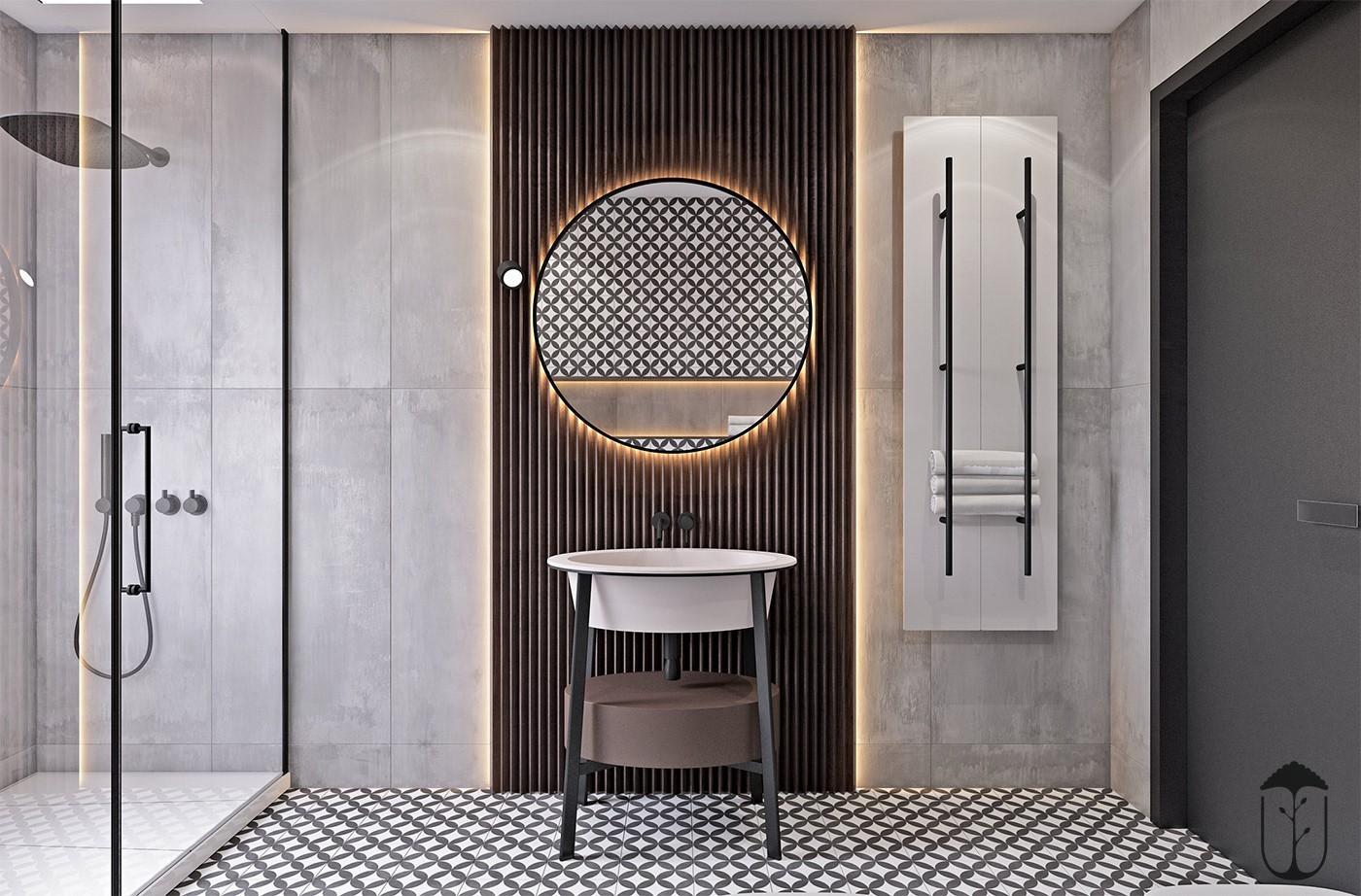 2020工业卫生间装修图片 2020工业洗漱台装饰设计