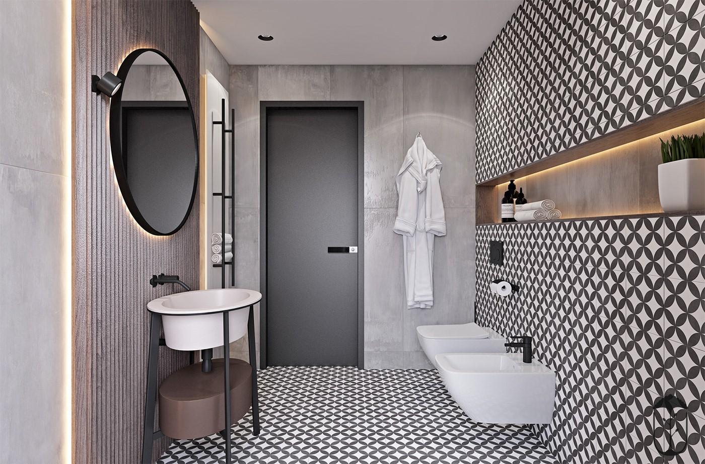 2020工業衛生間裝修圖片 2020工業浴室柜裝修圖片