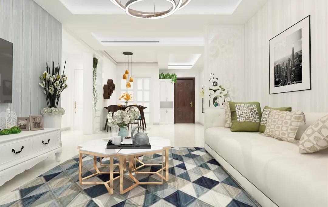 2020现代客厅装修设计 2020现代茶几效果图