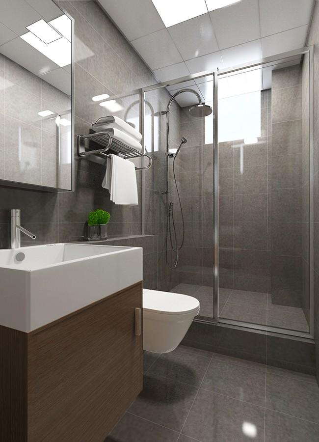 2020现代简约卫生间装修图片 2020现代简约浴室柜装修图片