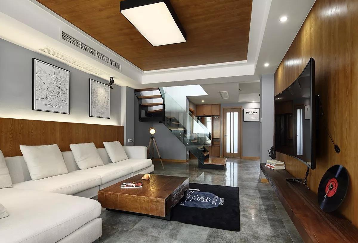 2019工业客厅装修设计 2019工业楼梯装修设计
