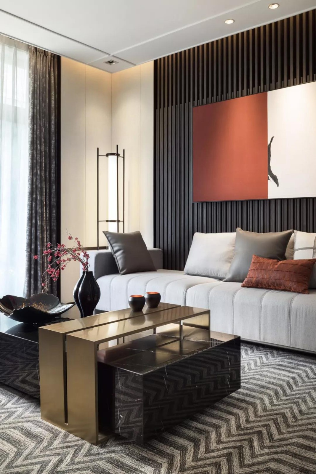 2020新中式客厅装修设计 2020新中式茶几效果图