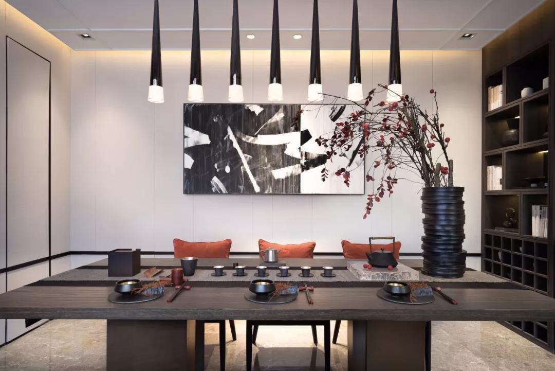 2020新中式餐厅效果图 2020新中式灯具装修效果图片