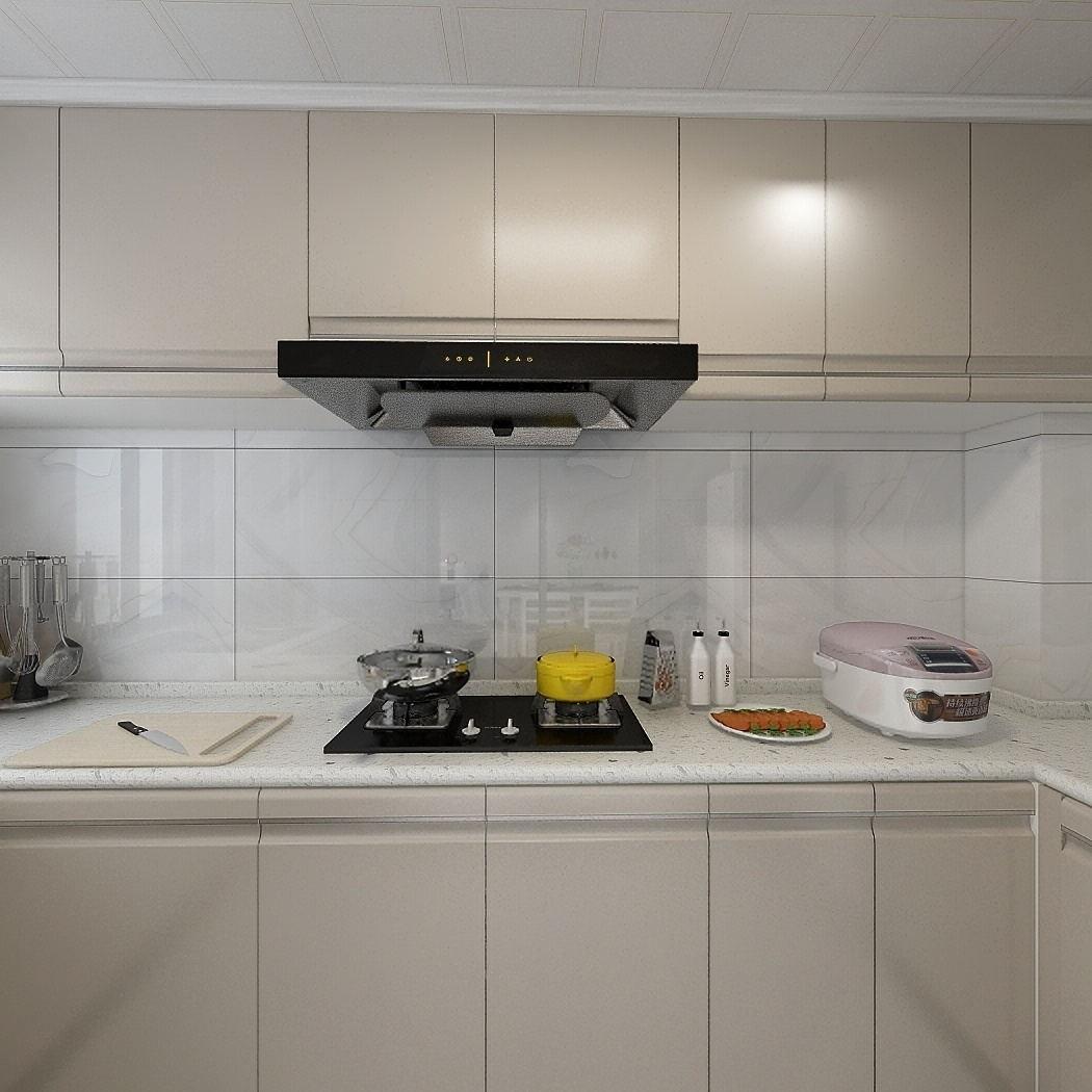 2020现代简约厨房装修图 2020现代简约灶台装修图片