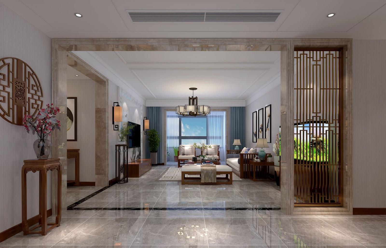 2020新中式客廳裝修設計 2020新中式隔斷圖片