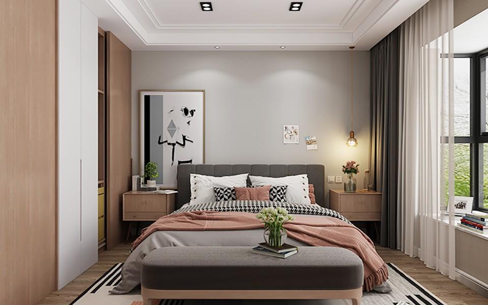 2020北欧卧室装修设计图片 2020北欧衣柜装修效果图片