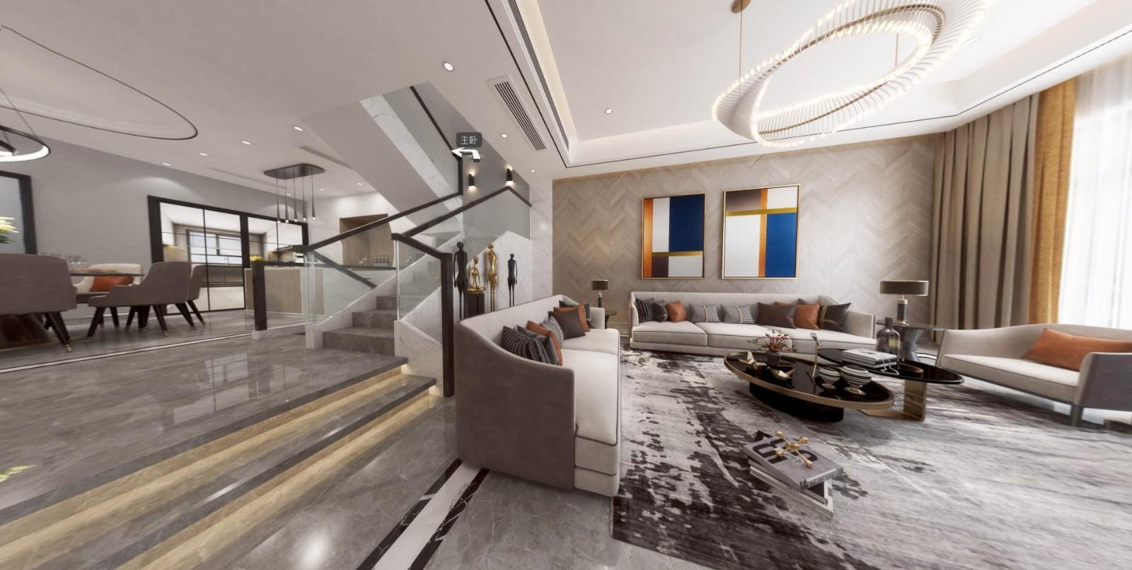2019现代欧式客厅装修设计 2019现代欧式楼梯装修设计