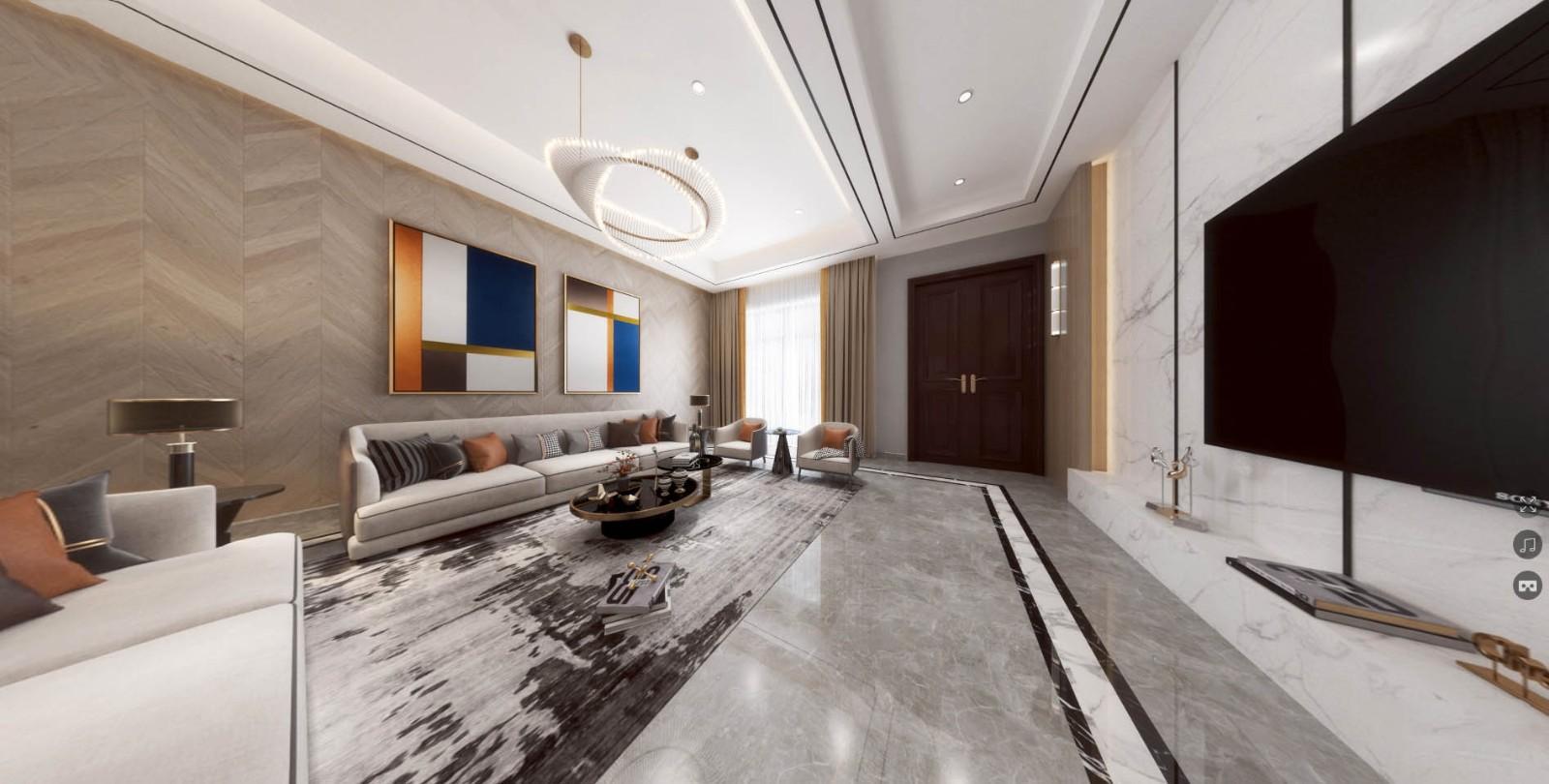 2020現代歐式300平米以上裝修效果圖片 2020現代歐式別墅裝飾設計