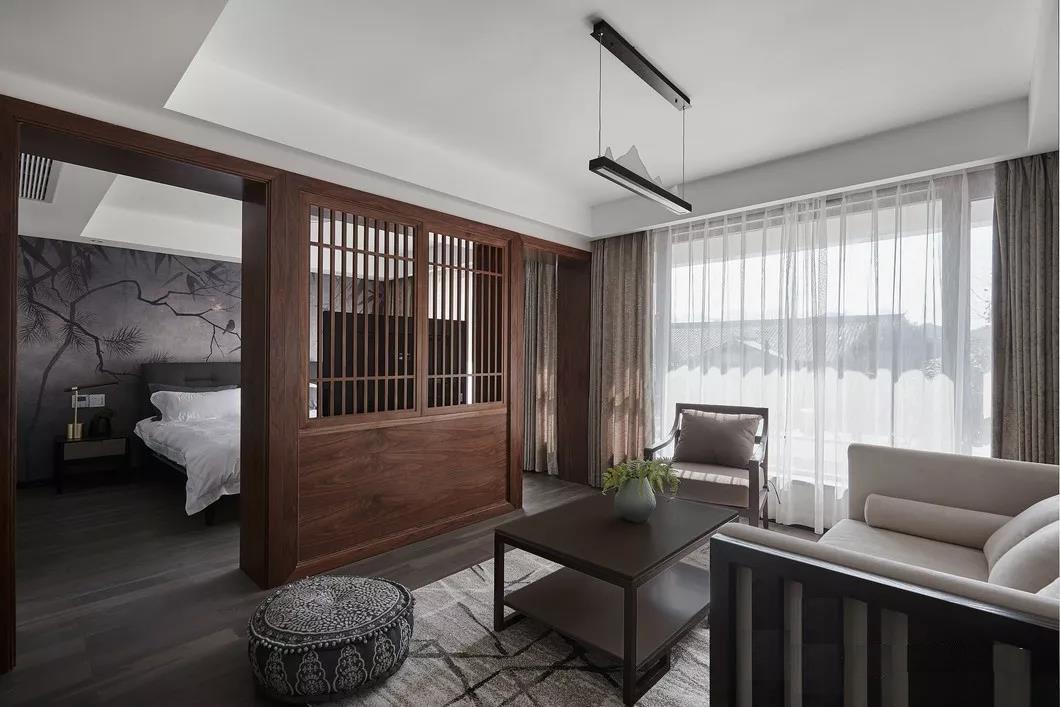 2020新中式起居室裝修設計 2020新中式沙發設計圖片