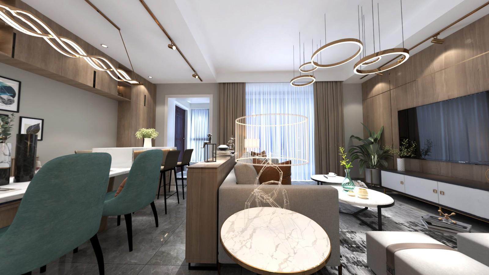 2020現代客廳裝修設計 2020現代隔斷圖片