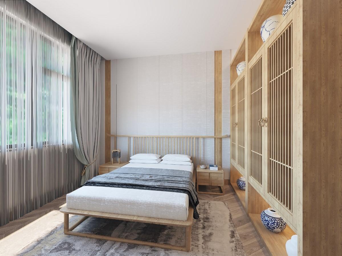 2019新中式臥室裝修設計圖片 2019新中式床圖片