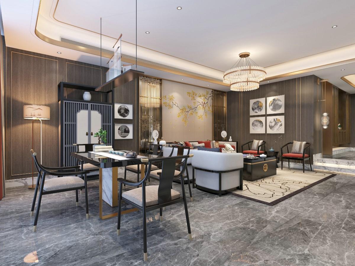 2019中式客廳裝修設計 2019中式隔斷圖片