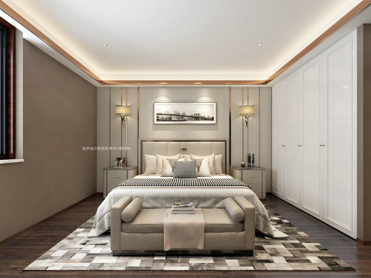 2019中式臥室裝修設計圖片 2019中式床圖片