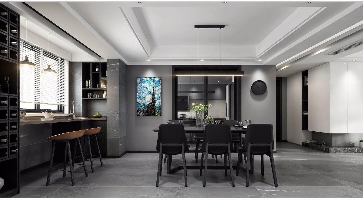 2019后現代餐廳效果圖 2019后現代餐桌裝修圖片