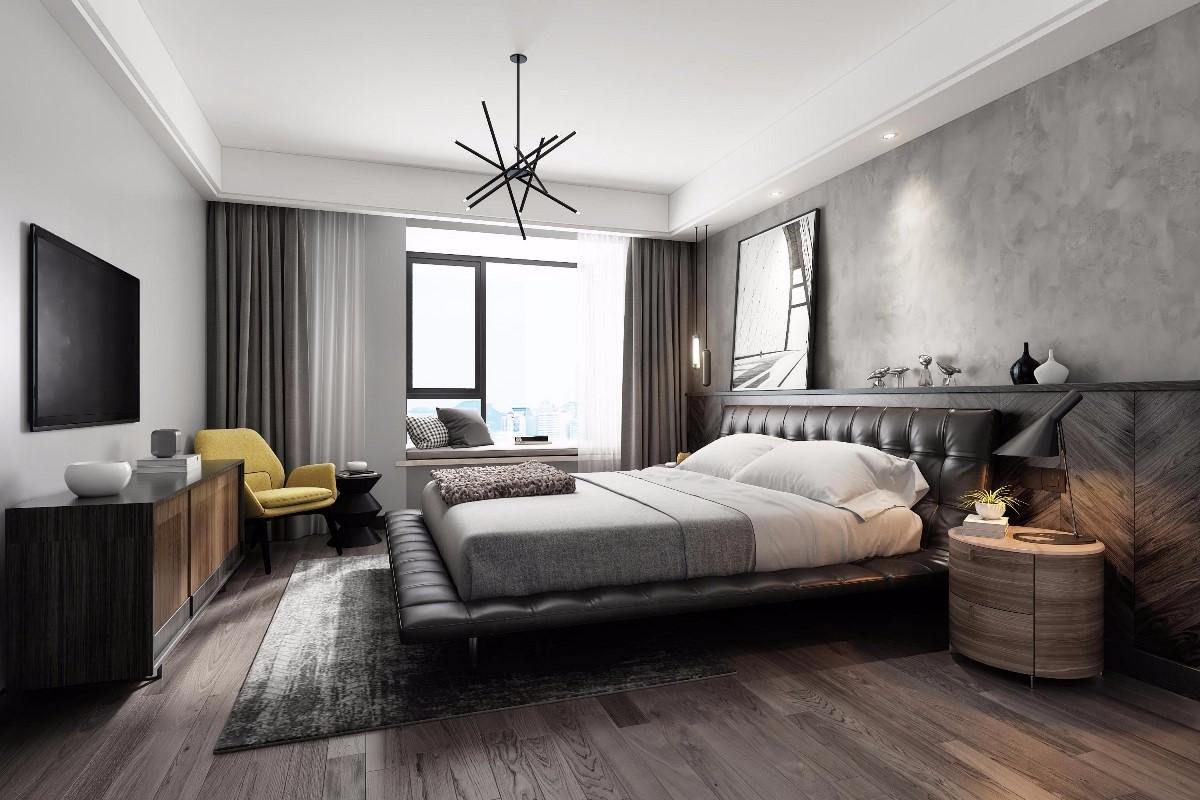 2019后現代臥室裝修設計圖片 2019后現代床圖片